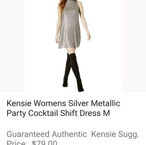 Kensie Dresses - KENSIE Gorgeous metallic shift dress w stretch